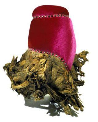 Madelon Galland, Pink Velvet Stump. 2000.