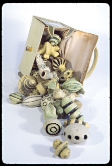 "Madelon Galland, ""Biopsy"" 1998. Found object and ceramic"